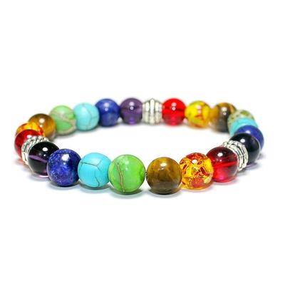 Bracelet 7 chakras 21 pierres