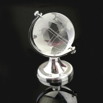 2.Globe terrestre cristal
