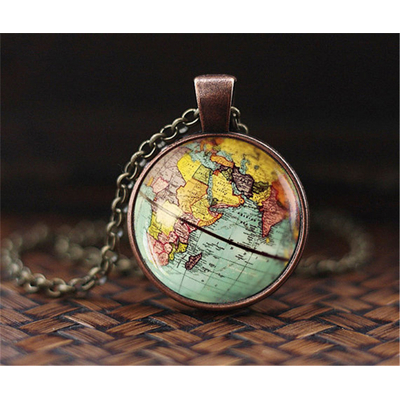 Pendentif-Globe-terrestre-feng-shui-Collier-Terre-Carte-Du-Monde-bijoux-porte-bonheur-cuivre