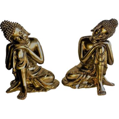 Duo Bouddha penseur Petit Doré