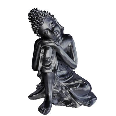 Grand Bouddha penseur Argent
