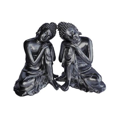 Bouddha penseur : Petit Duo Argent