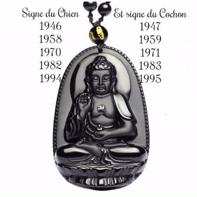 Pendentif  Amitabha : Bouddha protecteur spécial 2019
