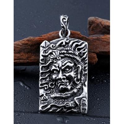 Amulette Fudo Myo en acier inoxydable : Protection policiers, pompiers, pratiquants d?arts martiaux