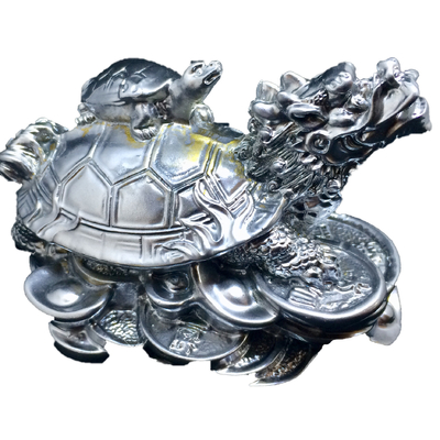 1.tortue dragon argent feng shui (2)