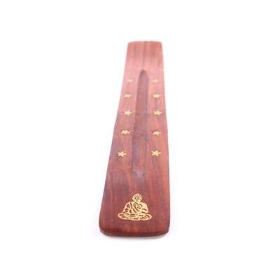 Porte encens Bouddha bois indien