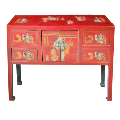 Console chinoise rouge collection Ming