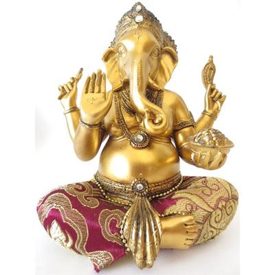 Grand ganesh dieu tete d'elephant doré