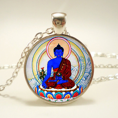 Pendentif Amulette du bouddha de la médecine