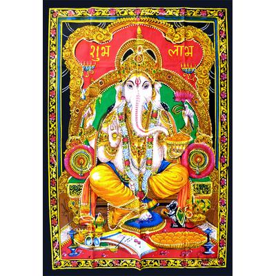 Tenture Ganesh : Divinité a tête d?éléphant