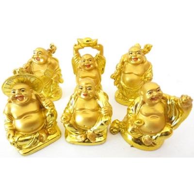 6 Bouddhas des six bonheurs or