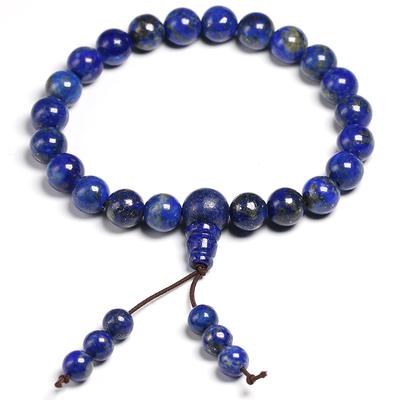 Bracelet porte bonheur Mala en lapis lazuli : santé