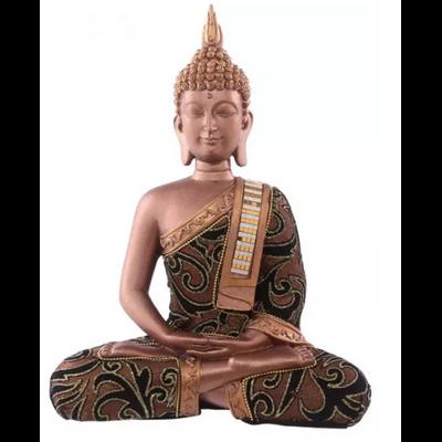 Bouddha thaï en méditation effet cuivre
