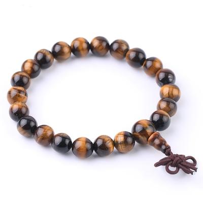 Véritable Bracelet Mala ?il de tigre : Protection