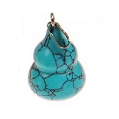 Pendentif Santé : wu lou Turquoise