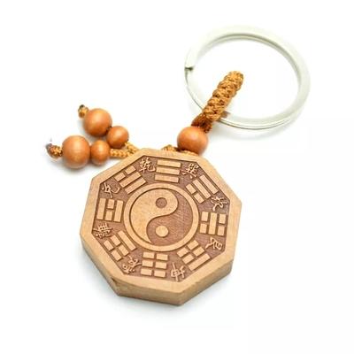 Amulette  Yin & Yang Bagua en bois