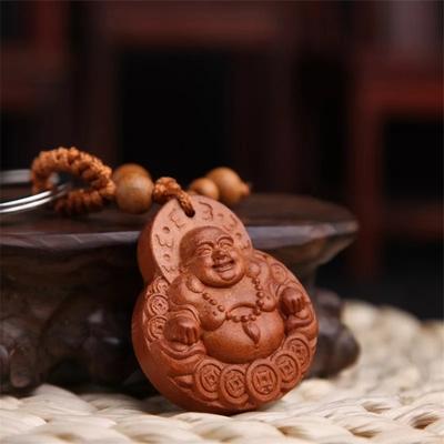 Amulette porte-clés : bouddha de richesse