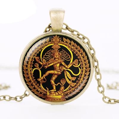Pendentif Shiva Nataraja porte-bonheur bronze