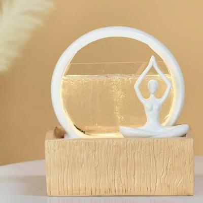 Fontaine femme en méditation