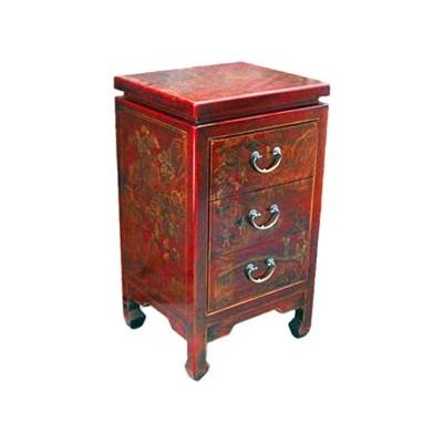 Chiffonnier chinois trois tiroirs style Cité Xian