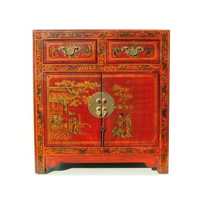 petit meuble deux portes deux tiroirs chinois style cit. Black Bedroom Furniture Sets. Home Design Ideas