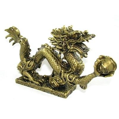 Dragon Feng shui doré