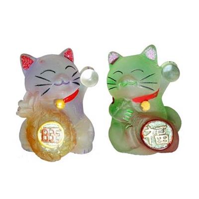 Duo de chats renouveau, bonheur et chance