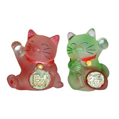 Duo de chats renouveau, bonheur et prospérité