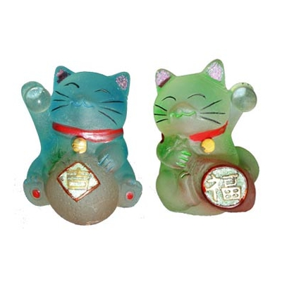 Duo de chats renouveau, bonheur et santé