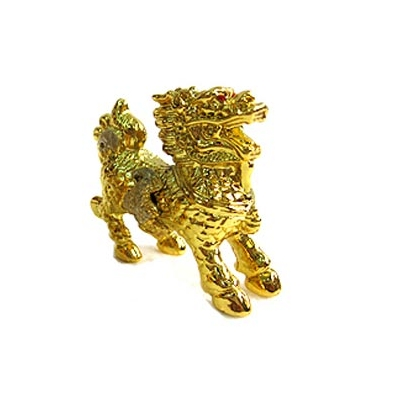 Chi Lin, cheval dragon, or 24 carats