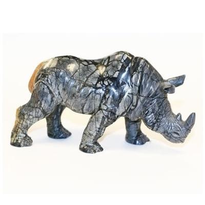 Rhinocéros en pierre : Protection feng shui