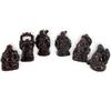 Bouddhas des six bonheurs rouge bordeaux
