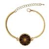 Bracelet doré Sri Yantra : Amour & Protection