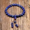 Bracelet tibetain bouddhiste mala Lapis Lazuli veritable