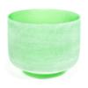 Bol de cristal vert  des 7 chakras - chakra du coeur