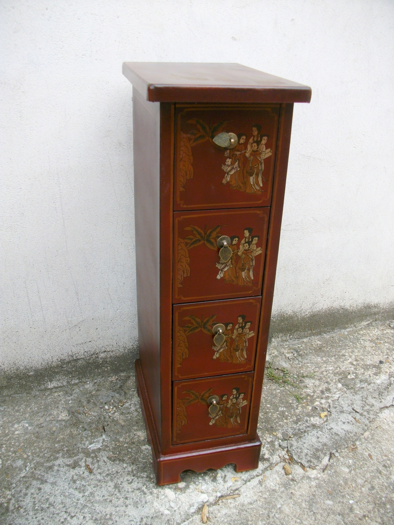colonne range cd 4 tiroirs collections collection cit xian magie d 39 asie. Black Bedroom Furniture Sets. Home Design Ideas