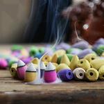 3.Encens-Parfum-Aromathérapie-Cones-Encens-Santal-Encens-Tibétain