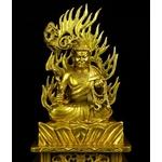 1.Statue-bronze-doré-or-fudo-myo-ninjutsu-shugendo-bouddha-japon