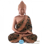 bouddha-thai-assis-effet-tissu-dore-large