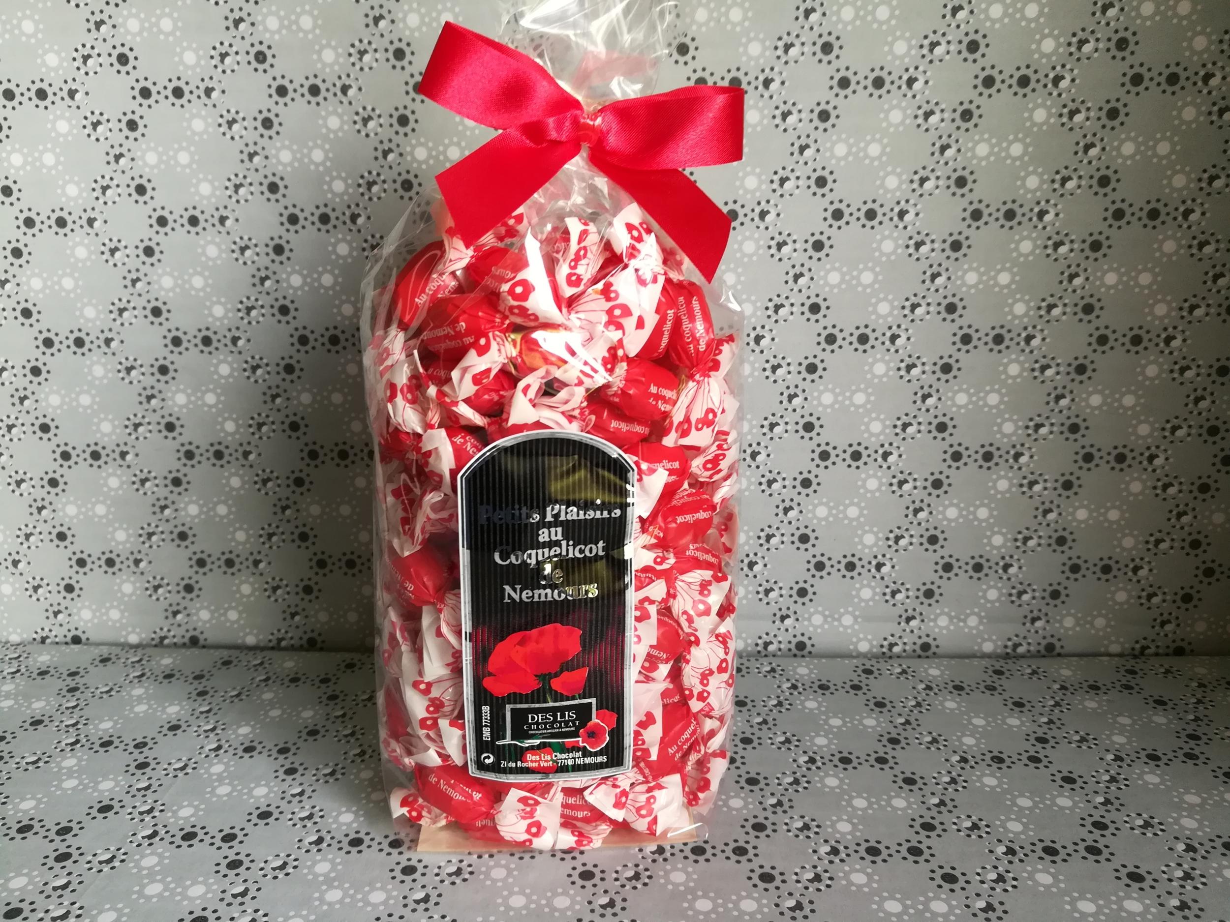 Petits bonbons fourrés au coquelicot de Nemours sachet 250 g