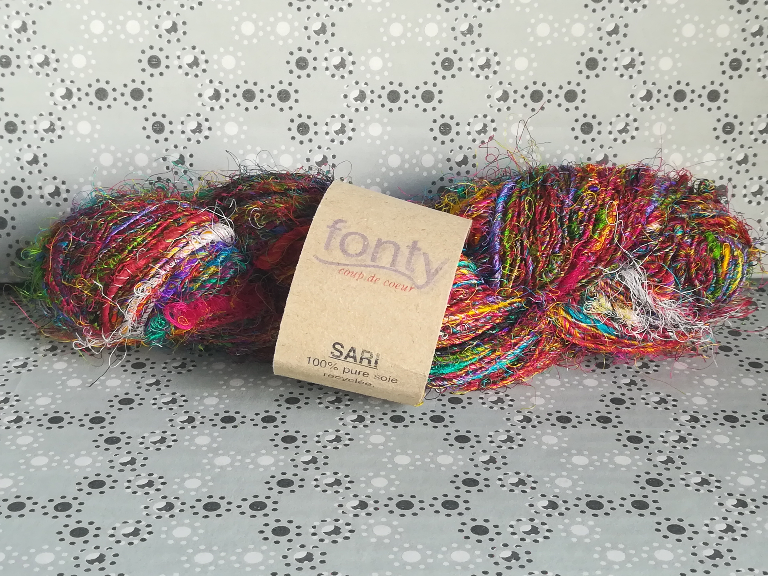 SARI fil pure soie recyclée coloris 7
