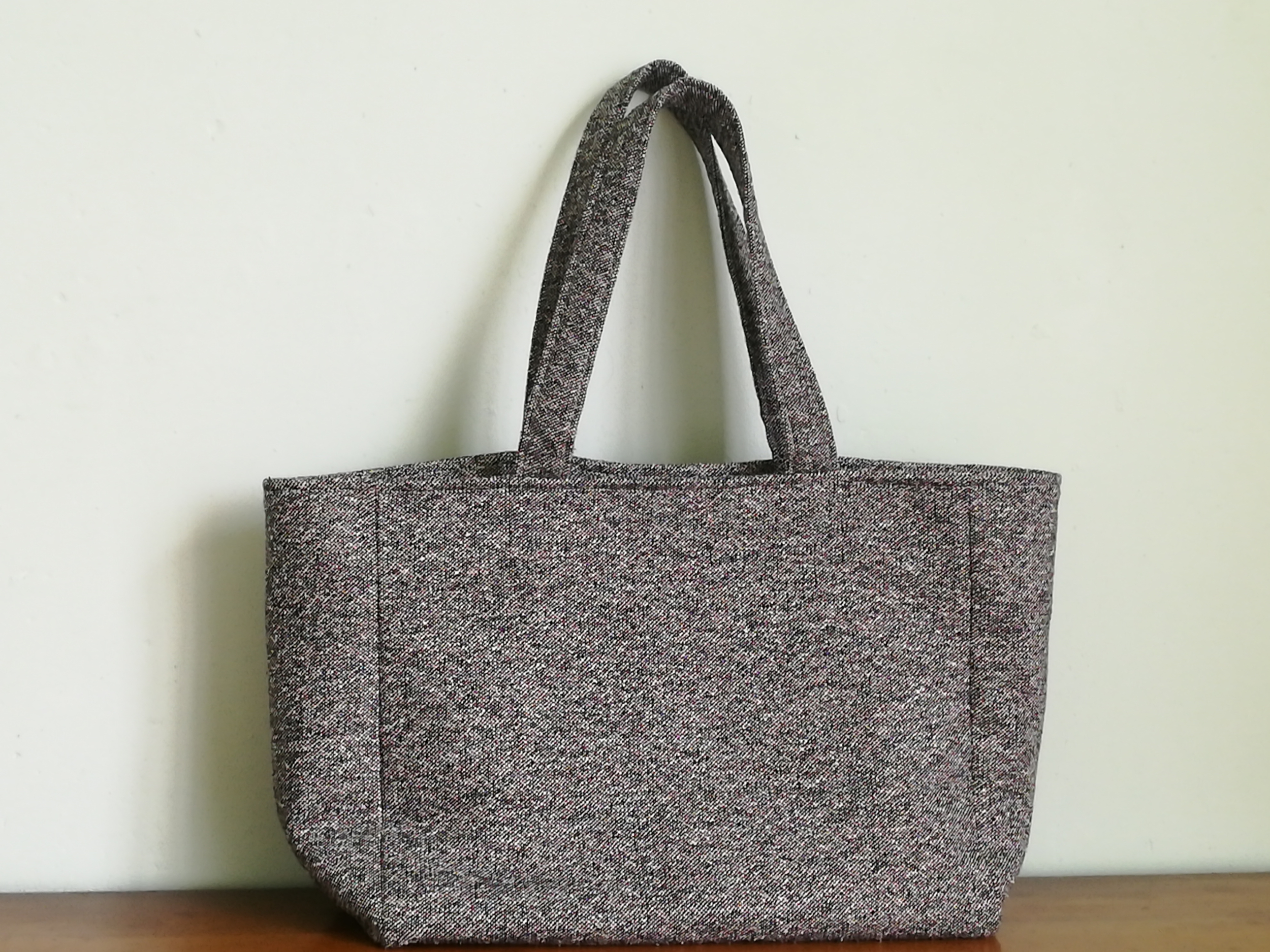 Sac à main gris TWEED