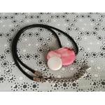 pendentif nacres rose et blanc