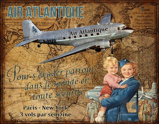 Plaque Air Atlantique
