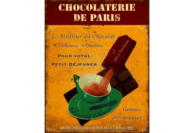 Plaque Chocolaterie de Paris