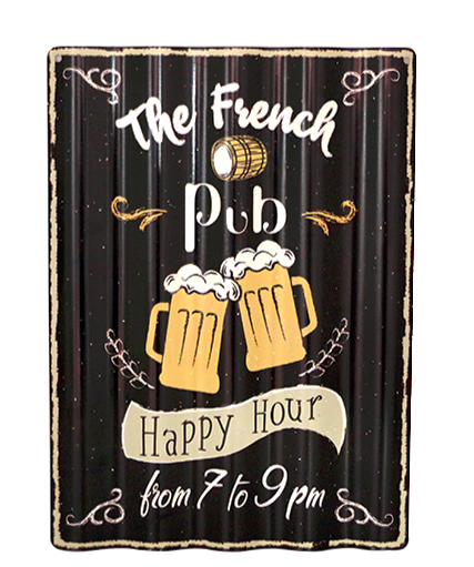Plaque ondulée Happy Hour 7 to 9