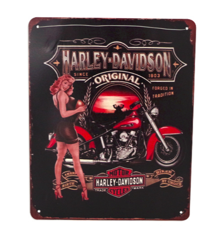 Plaque Harley Davidson original vintage