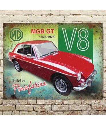 Plaque métal MGB GT