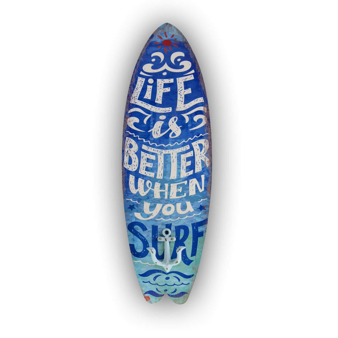 Porte-serviette planche de surf enjoy