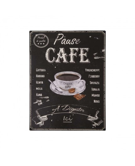 Plaque émaillée Fun Cuisine Café expresso